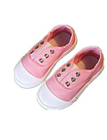 Girls' Shoes Casual Comfort Fabric Loafers Yellow / Pink / Purple / White