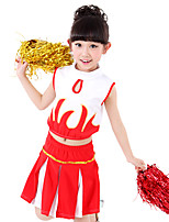 Performance Outfits Children's Performance Spandex Draped / Sequins 2 Pieces Blue / Red Performance Sleeveless Top / Skirt