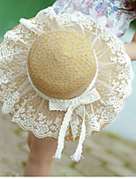Lace Bow Ms. Collapsible Sun Straw Beach Hat