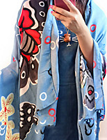 Butterfly Printed cCotton Twill Scarves Oversized Scarf