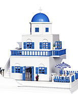 Chi Fun House Diy Handmade Cabin House Assembled Model Building Small Toy Creative Gifts