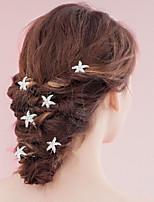 Damen Perle Kopfschmuck-Hochzeit / Besondere Anlässe Haar-Stock / Haarklammer 6 Stück
