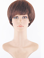 Dark Brown Synthetic Wig for Women Cheap Wigs Short Curly Synthetic Hair Short Natural Women's Wigs