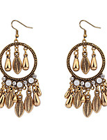 Bohemian Handmade Retro Long Paragraph Droplets Tassel Earrings