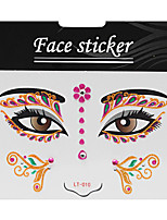 Abstract Pat Nightclubs Party Red Face Sticker LT-010