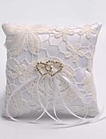 Double Heart Hollow Flower Ring Pillow