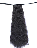 Wig Black 50CM Water Synthetic High Temperature Wire Hot Corn Horsetail Color 99J