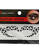 Abstract Fashion Lace Hollow Black Face Sticker YT-016