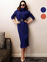 VERRAGEE® Women's Long Sleeve Knee-length Dress-L053