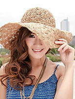 Women Casual Handmade Hollow Summer Sun Beach Lady Curling Idyllic Hat