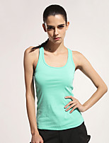 Mujer Carrera Tops / Tank Tops Fitness / Deportes recreativos / Running Transpirable / Materiales Ligeros Blanco / Negro OtrosRopa