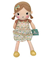 Genuine Spring Girl Doll Plush Toy Doll Baby Doll To Appease Doll Girl Gift Beige Floral Skirt Sitting Height 25Cm