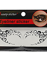 Abstract Fashion Lace Hollow Black Face Sticker YT-011