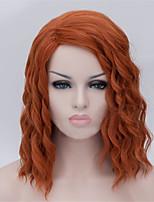 les nouveaux personnages perruque anime cos orange, cheveux 14 pouces