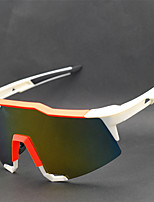 99259 OSSAT sports glasses Wind outdoor glasses glasses Cycling glasses - Bai Jie yellow film plating