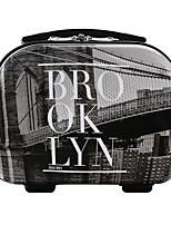 DAVIDJONES Women's Fashion Casual Multifunctional Cosmetic Makeup Bag Storage Tote Organizer-Black-grey