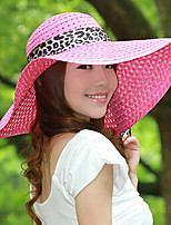 Summer Hollow Ribbon Bow Lady Straw Beach Sun Hat