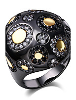 elegant design Cubic Zirconia Ring 18K Gold & Black Plated Special Party cocktail Rings for women Copper  rings
