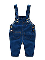 High Quality 2016 Spring Baby Rompers Animal Boy's Girl's Jumpsuit Denim Overalls Infant Costumes Baby