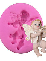 Angel / Violin Type Candy Fondant Cake Molds  For The Kitchen Baking Molds