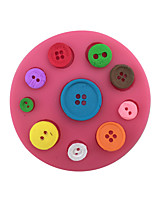 Buttons Type Candy Fondant Cake Molds  For The Kitchen Baking Molds