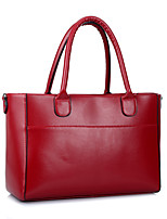 Women-Formal / Casual / Office & Career / Shopping-PU-Tote-Blue / Red / Black