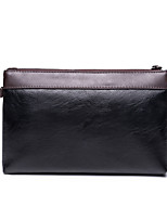 L.WEST Men's The Simple Color Matching Handbags/Clutch