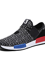 Men's Shoes Outdoor / Athletic / Casual Fabric Fashion Sneakers / Athletic Shoes / Slip-on Black / Blue / White