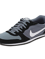 Zapatos Sneakers Cuero / Ante / Tul Negro / Gris Hombre