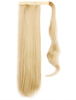 Golden 60CM Synthetic High Temperature Wire Wig Straight Hair Ponytail Color 25