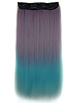 26 Inch Clip in Synthetic Straight Hair Extensions with 5 Clips