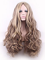 Fashion Natural Golden Waves of High Quality Multi-color Synthetic Hair