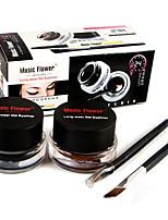 Eyeliner Crème Humide Longue Durée / Etanches / Naturel / Séchage rapide Noir / Marron Yeux 1 2 PAYS DE COULEUR
