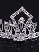Fashion Bride Headwear Headdress Crown With Rhinestone Styl