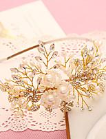 Vrouwen / Bloemenmeisje Bergkristal / Licht Metaal / Imitatie Parel Helm-Bruiloft / Speciale gelegenheden Hoofdbanden 1 Stuk