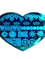 BlueZOO Love Blue Nail Art Stamping (15)