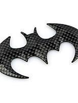 ZIQIAO 1pc Car Decoration Metal Bat Car Sticker Animal Bat Car Badge Emblem Auto Decal