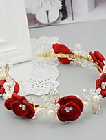 Dame / Blomsterpige Sateng / Perle / Legering / Harpiks Headpiece-Bryllup / Spesiell Leilighet Pannebånd 1 Deler