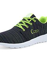 Women's Shoes Tulle Flat Heel Comfort Fashion Sneakers Athletic Green / Fuchsia / Orange
