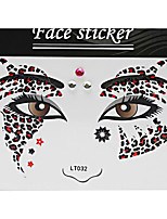 Abstract Pat Nightclubs Party Red Face Sticker LT-032