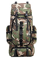 70L Camping & Hiking & Backpacking Pack / Climbing Outdoor Wearable / Multifunctional / Moistureproof Camouflage Nylon