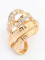 Fashion Hollow Crystal Rings Jewelry Women Wedding Finger Rings Luxurious Gold Plated Jewelry Rings High Quality