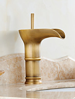 Winebowl Style in Antique Brass Bathroom Sink Faucet (Short)