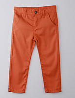 Girl's Solid Pants,Cotton Summer Orange