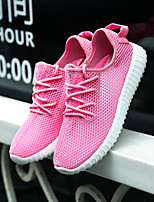 Women's Breathable mesh Candy Shoes Tulle Flat Heel Fashion Sneakers Career / Athletic / Casual Green / Pink / Gray
