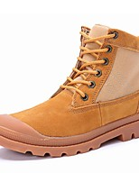 Women's Shoes Suede Flat Heel Motorcycle Boots / Combat Boots Boots Outdoor / Athletic / Casual Yellow