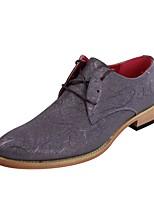 Черный / Серый / Бежевый Мужская обувь Свадьба / Для офиса / Для праздника / На каждый день / Для вечеринки / ужина Синтетика Оксфорды