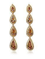 New fashion Classic Drop shape Earrings 18K Gold plated 7 colors Cubic zircon Drop earrings for women