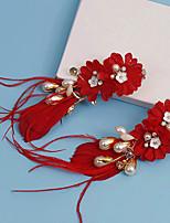 Femme Tissu Casque-Mariage / Occasion spéciale Fleurs / Pique cheveux 2 Pièces