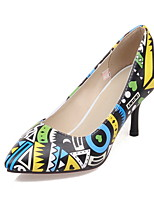 Women's Shoes PU Stiletto Heel Heels / Comfort / Pointed Toe Heels Office & Career / Dress / Casual Yellow / Red